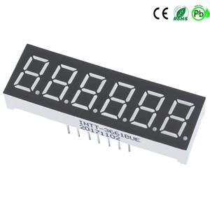 Display LED com 6 dígitos e 7 segmentos