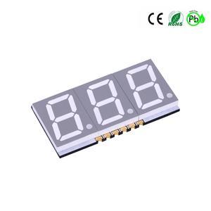 Display LED de 3 dígitos com 7 segmentos