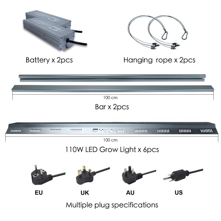 LED spektrum penuh menumbuhkan bar lampu Promosi