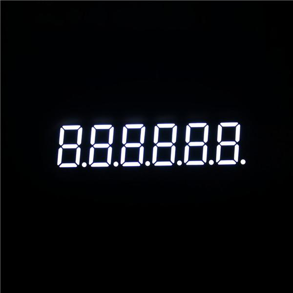 six digit 7 segment led