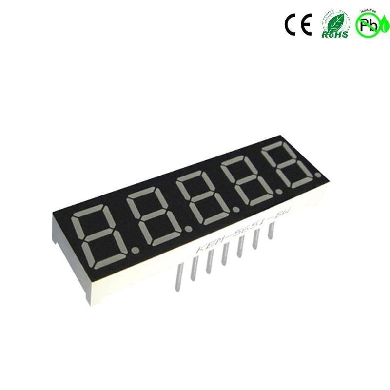 wit 0,56 inch 5-cijferig 7-segment led-display
