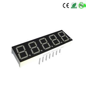 weiße 0,56 Zoll 5-stellige 7-Segment-LED-Anzeige