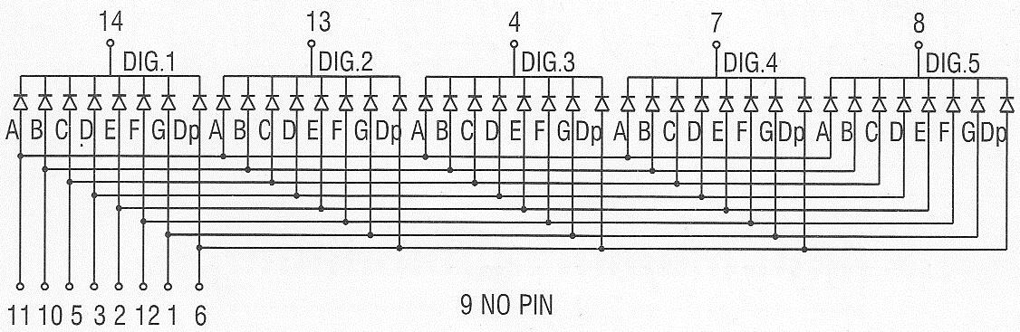 5 digit 7 segment led