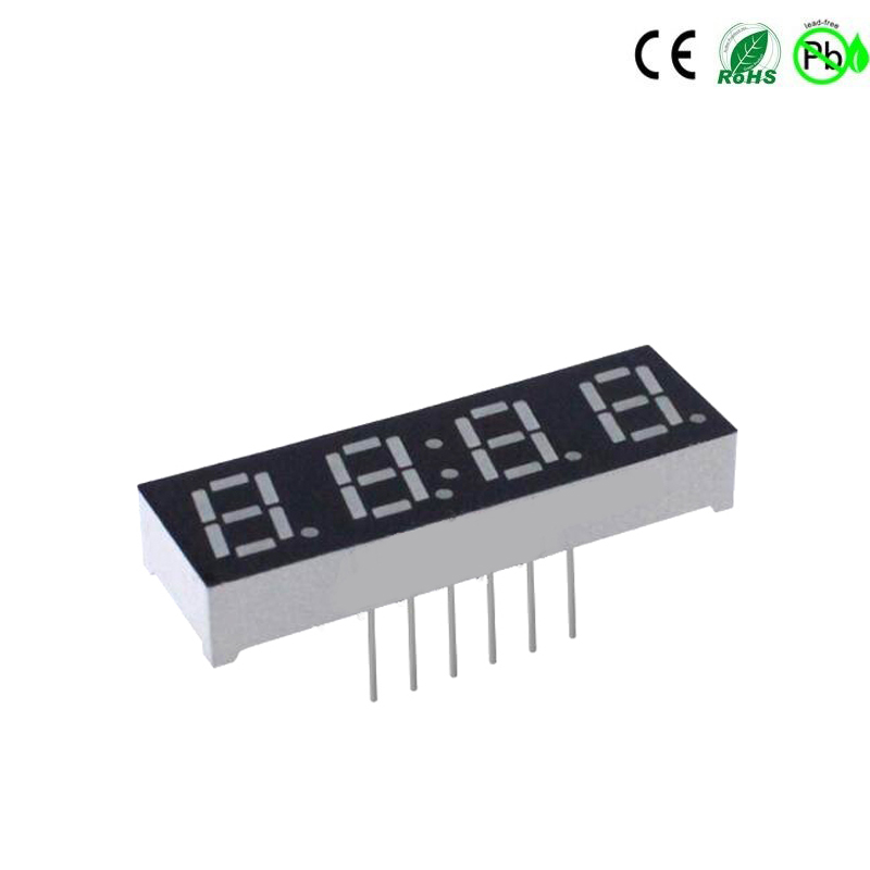 0,28 inch blauw 4-cijferig 7-segment led-display
