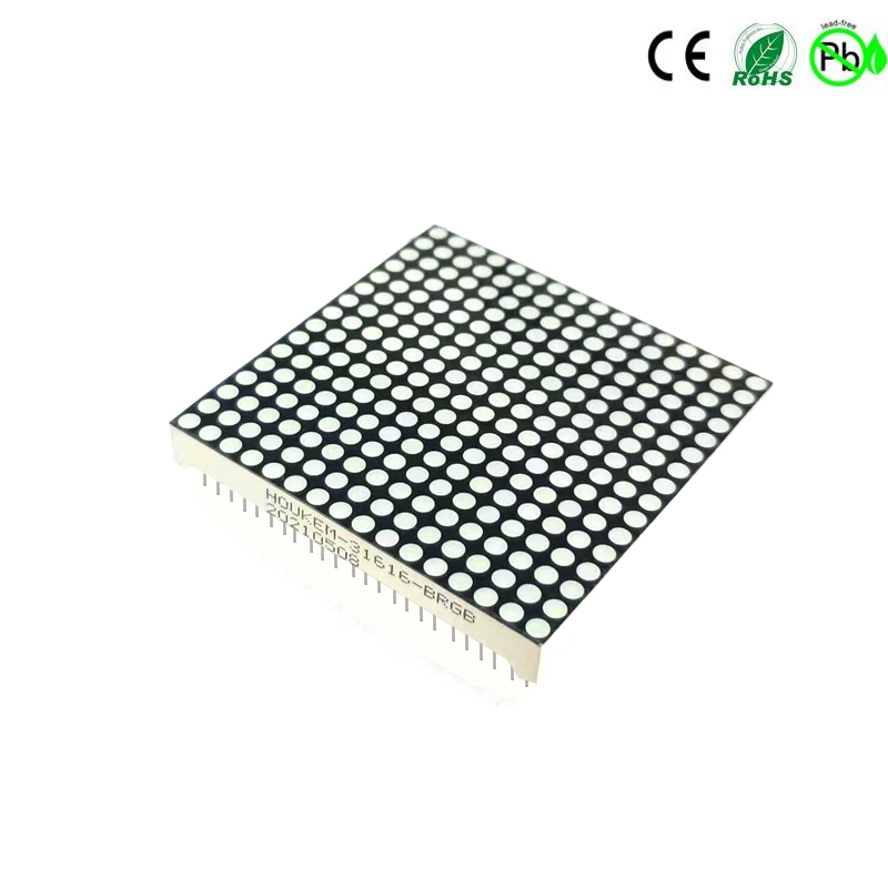 Pantalla de matriz de puntos LED RGB de 64x64 mm 16x16