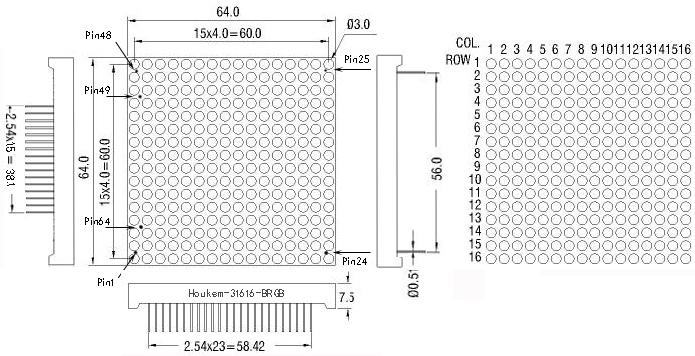 16x16 RGB led matrix