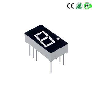 0,4 inch eencijferig klein 7-segment led-display rode kleur