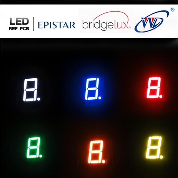 1 digit 7 segment led
