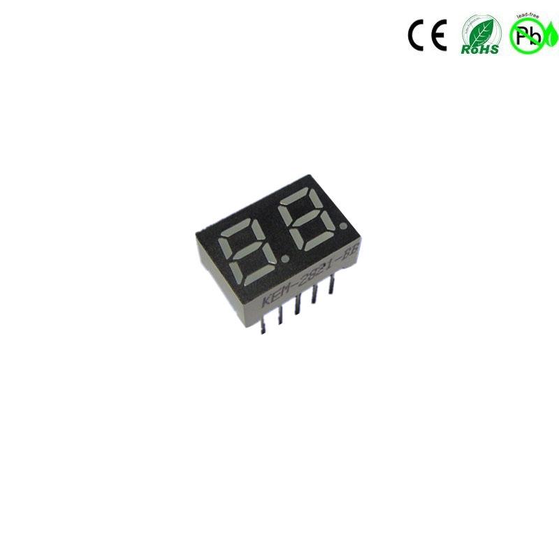 Hochwertiges 0,28'''' 2 digitales rot grün weißes 7-Segment-LED-Display