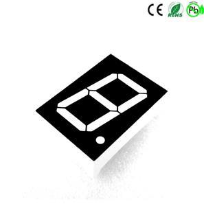 superrood 0,5 inch 1-cijferig 7-segments display cc ca