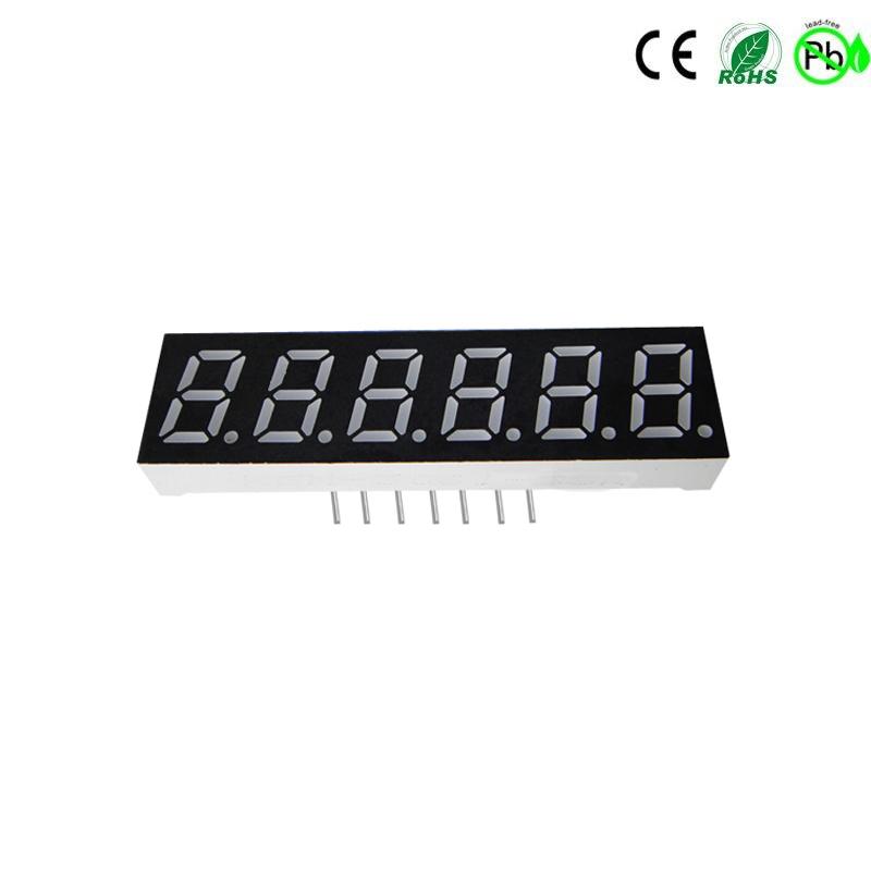 HOUKEM-3061-BW weiß 0,3 Zoll 6-stellige 7-Segment-LED-Anzeige