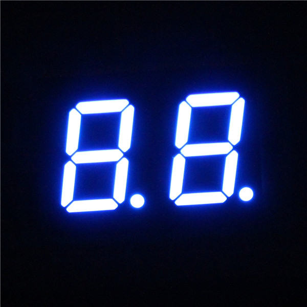 blue 2 digit 7-segment led display