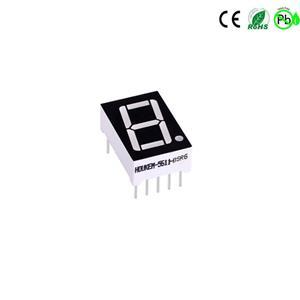 Bernsteinfarbenes 1-stelliges 7-Segment-LED-Display 0,56 Zoll