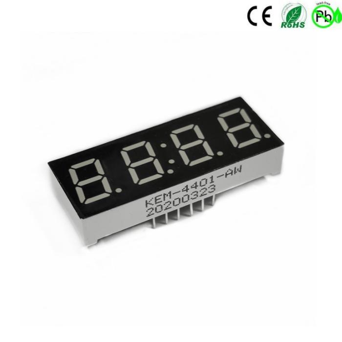 Rood 0,4 inch 4-cijferig led-display met 7 segmenten
