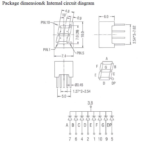 mini 7 Segment LED Display