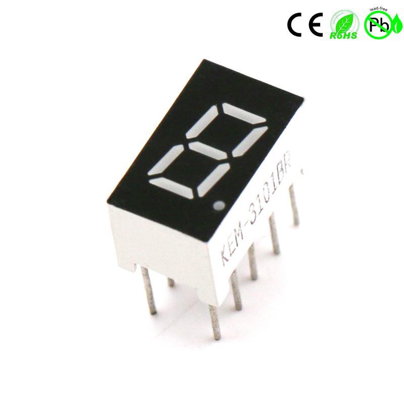 Kleine Sieben-Segment-Einzelziffer 0,3 Zoll 1-stellige LED 7-Segment-LED-Anzeige