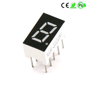 Klein zeven-segments ééncijferig 0,3 inch 1-cijferig LED-display met 7 segmenten