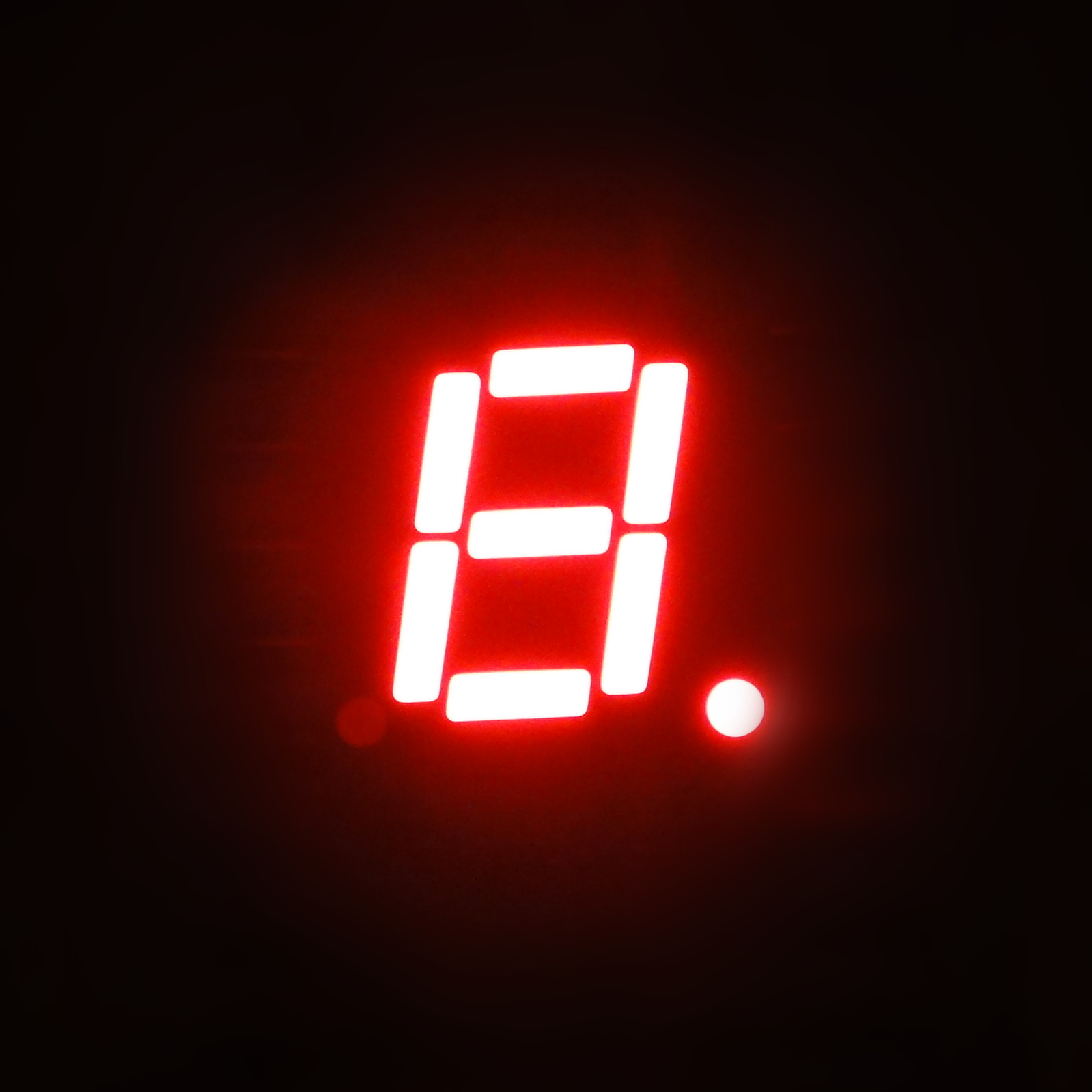 7 Segment LED Display 1 digit