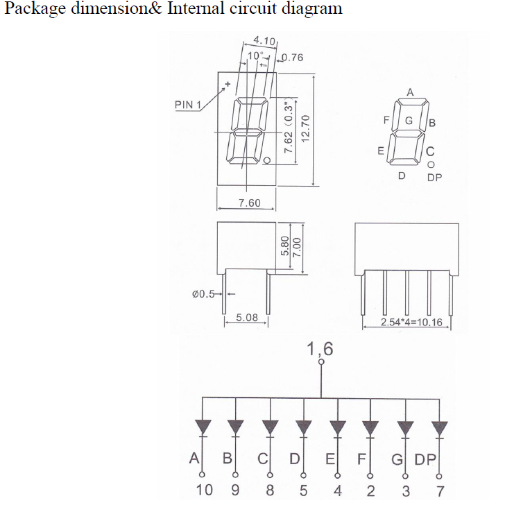 small 7 Segment LED Display