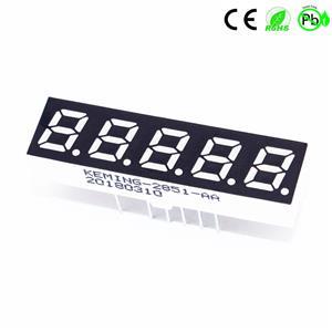 China 0,28 inch digitale LED-display 5-cijferige 7-segments LED-display-anode