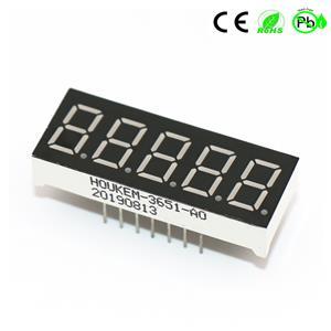 Heet 0,36 inch 7-segments LED-display 5-cijferig fnd-segmentdisplay
