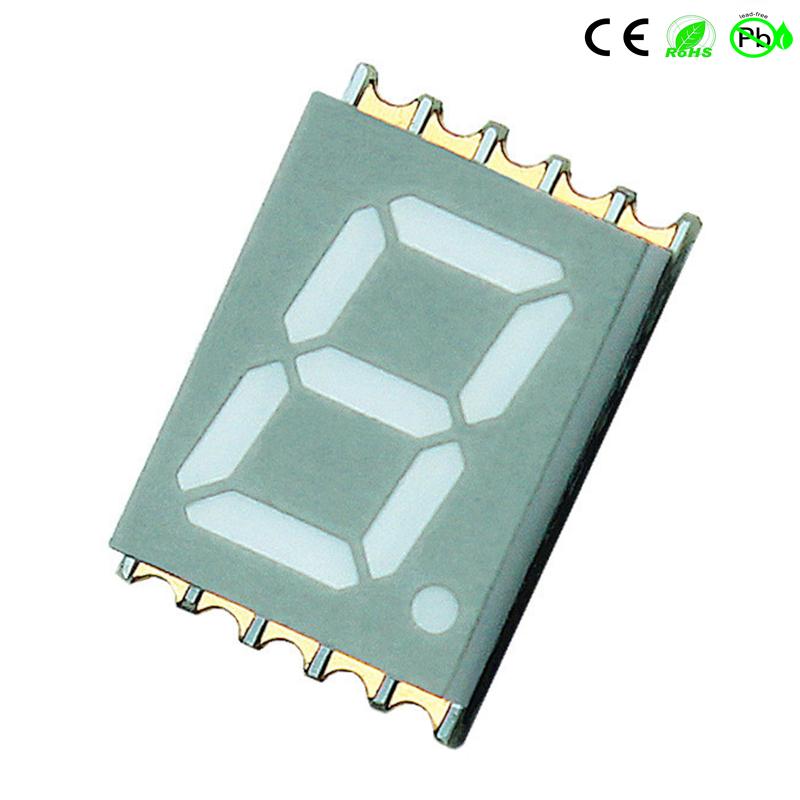 Op het oppervlak gemonteerde apparaten 0,39 inch SMD-LED met één cijfer, 7-segments SMD-display