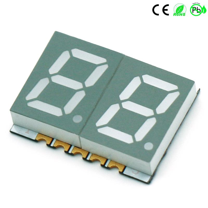 Opbouwapparaten 0,39 inch dubbelcijferig 7-segment SMD LED-display 2-cijferig