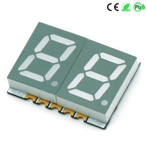 Oberflächenmontierte Geräte 0,39 Zoll Dual Digit 7 Segment SMD LED Display 2 Digit
