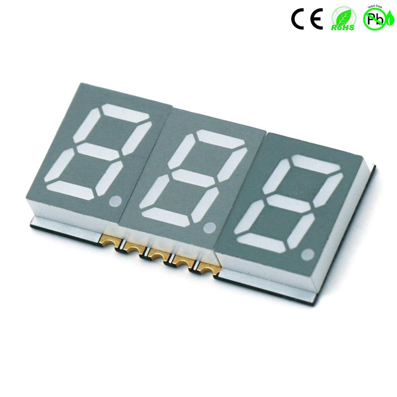 China fabrikant 0,39 inch drievoudig cijfer 7 Segment SMD LED-display 3 cijfers