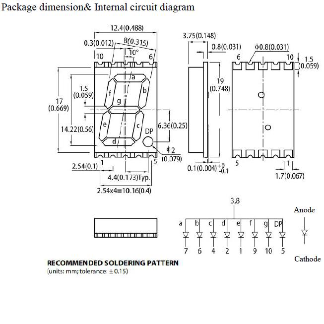 0.56 Inch 7 Segment SMD LED Display