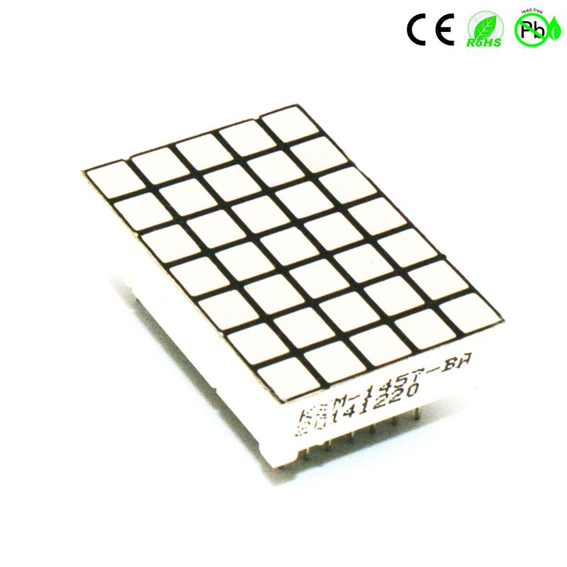 Quadratische LED-Matrix 5x7-Punktmatrix 1457-Matrix-LED-Anzeige 7x5-Array