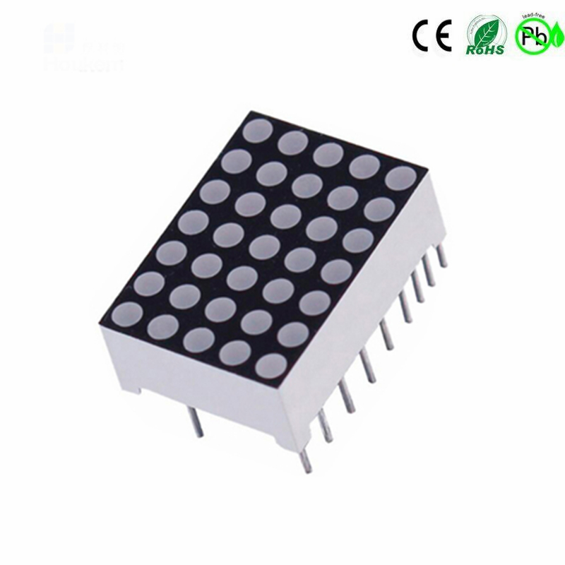 Houkem-7057-BSR Super Red 1,9 mm runder Punkt 5x7 LED-Punktmatrix