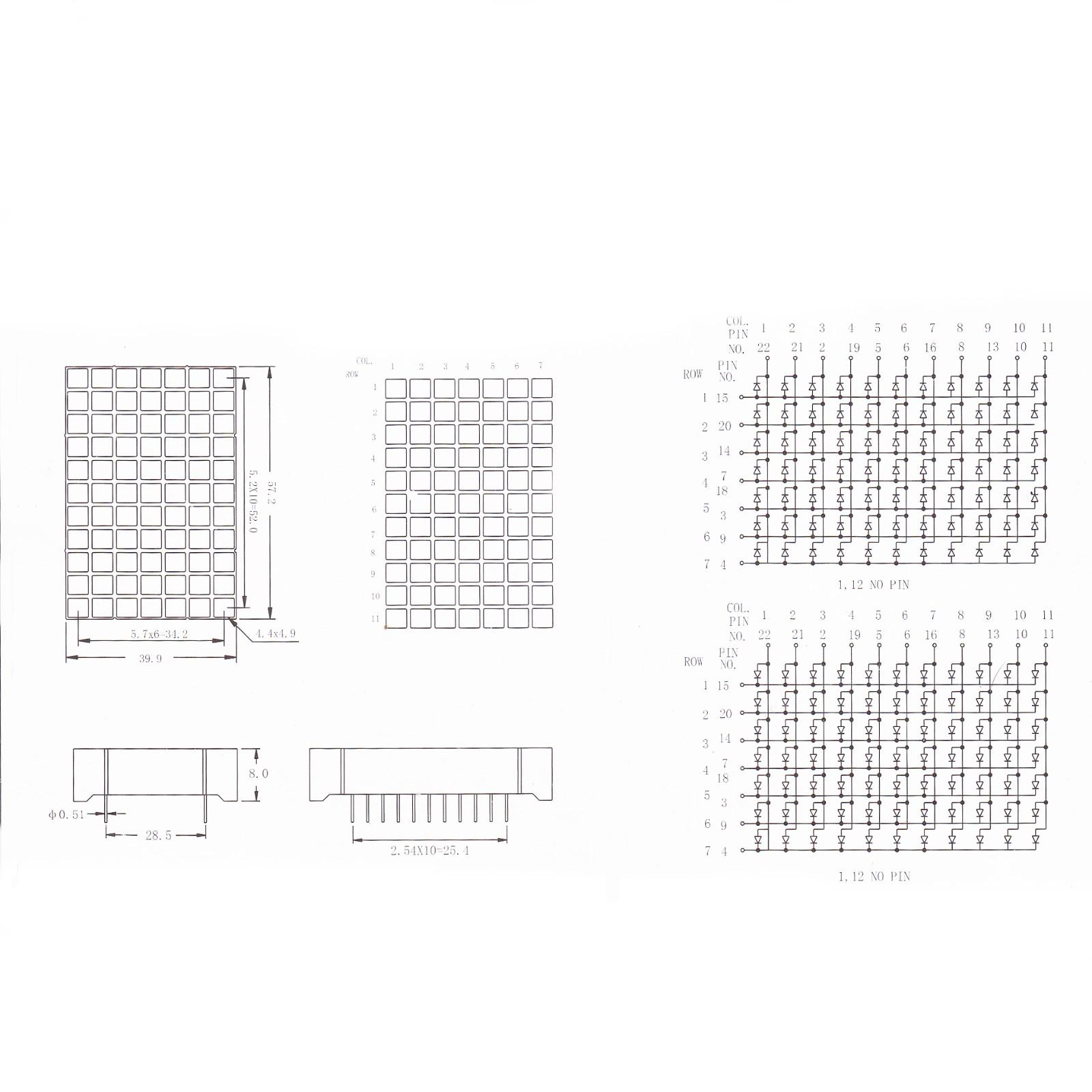 New Products 11x7 Dot Matrix Led Display