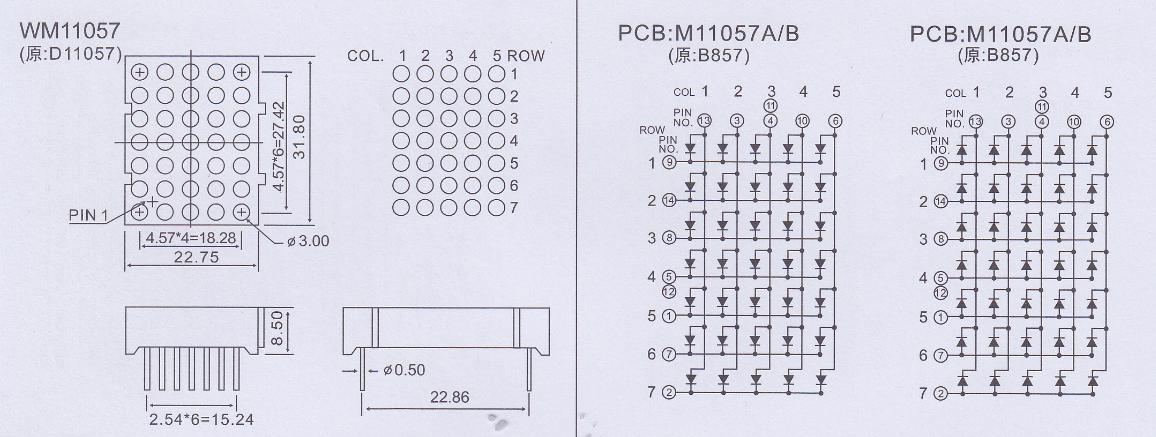 5x7 led matrix
