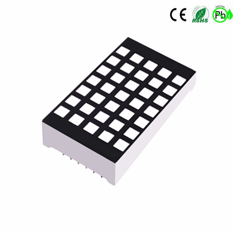 Houkem 12257 Gelb Amber 3.0mm 5x7 quadratische LED-Matrix