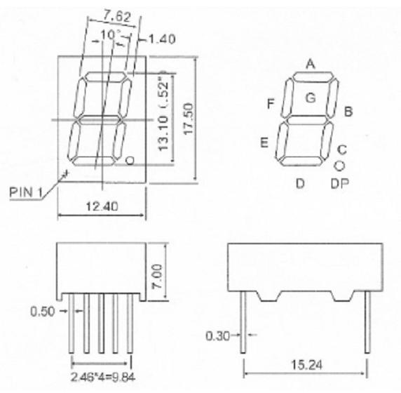 0.52inch 7 segment display