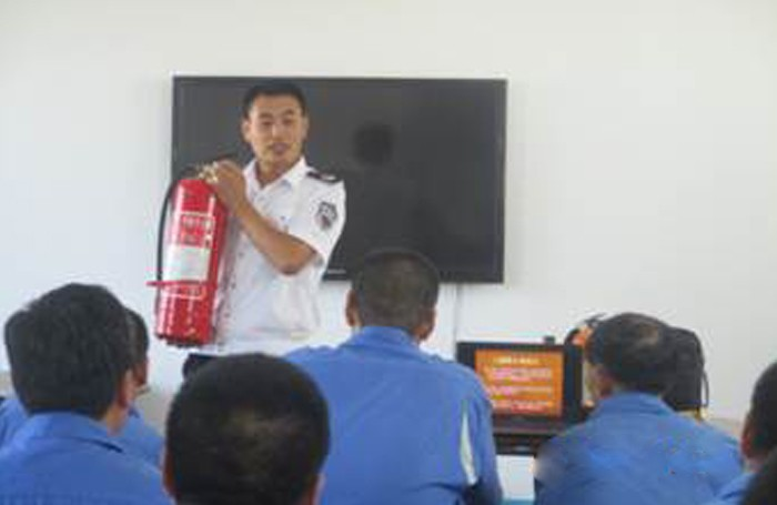 Organize fire safety knowledge training