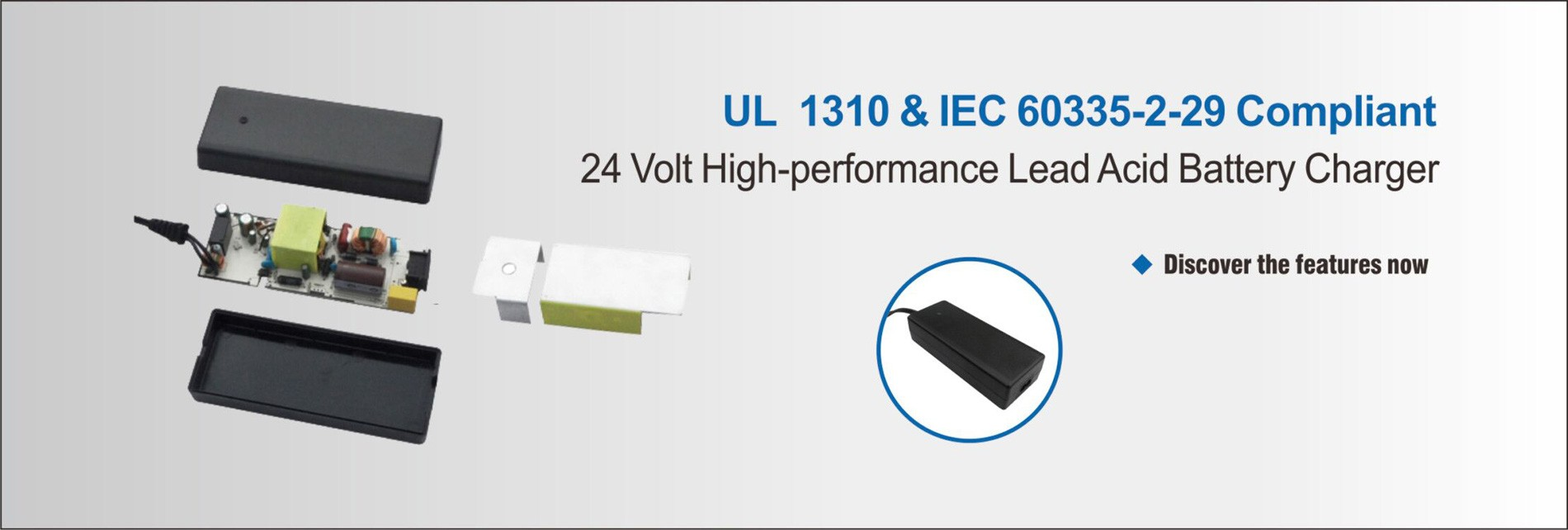 Lead acid battery charger 24V/3A