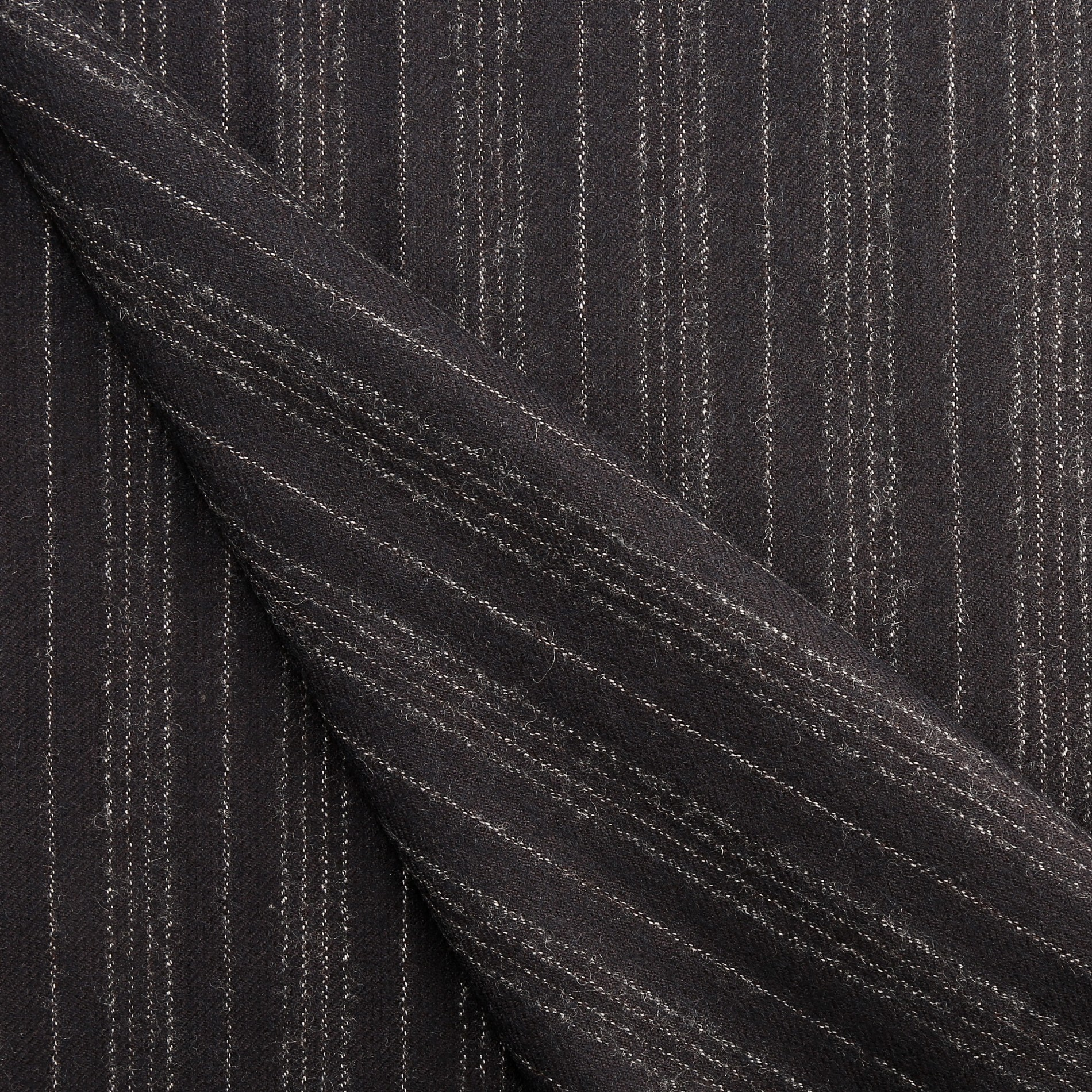 Black Worsted Wool Fabric