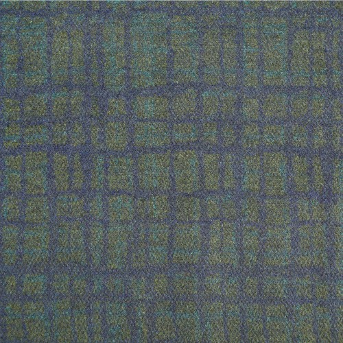 Wool polyester heather fabric