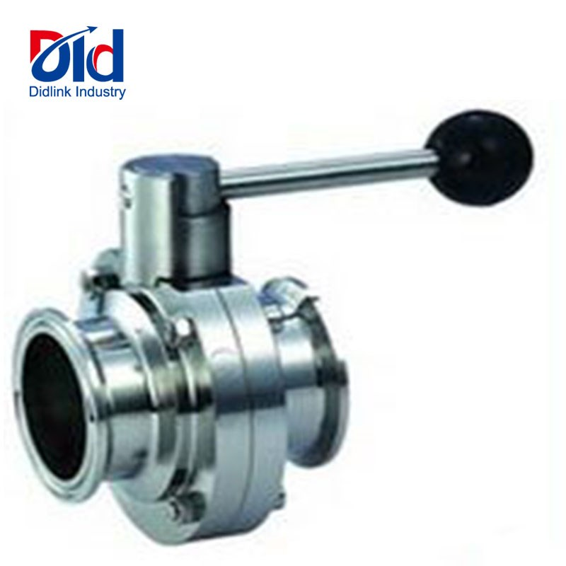 sanitary fast loading butterfly valve