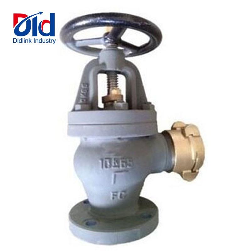 angle cast iron hose valves