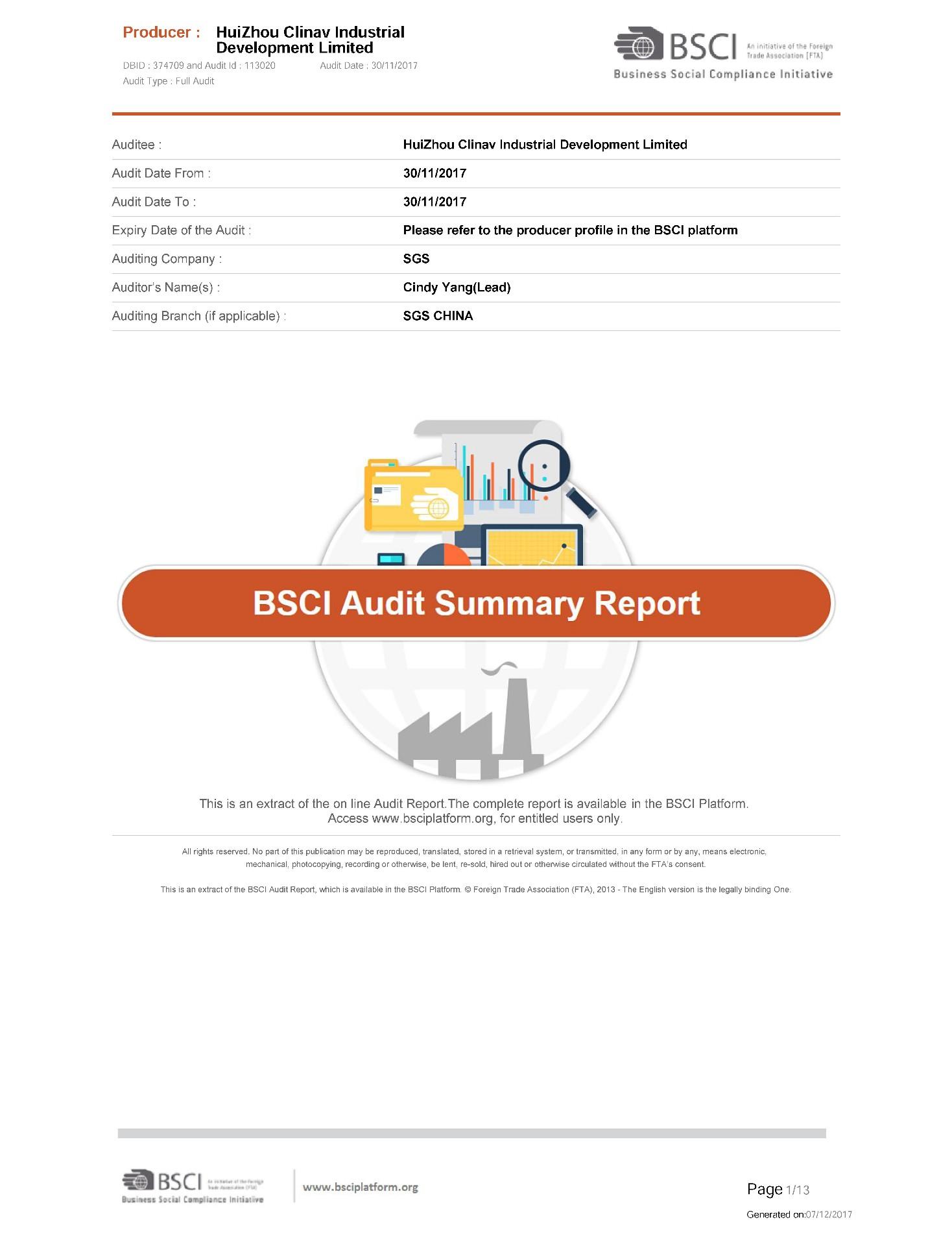 BSCI Audit