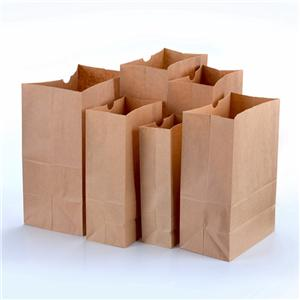 Take away brown kraft paper bags supermarket for food