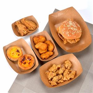 Small boat Paper board food trays custom food trays