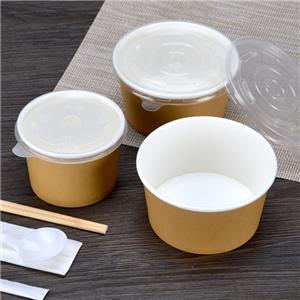 260ml530ml disposable thickening paper bowl soup bowl porridge bowl dessert bowl packaging box cover 1000