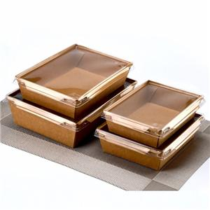 Disposable custom printed paper sushi food tray with cover