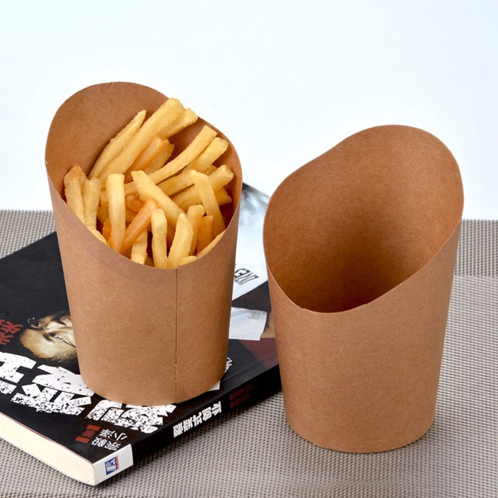 Custom printed kraft paper box for French fries