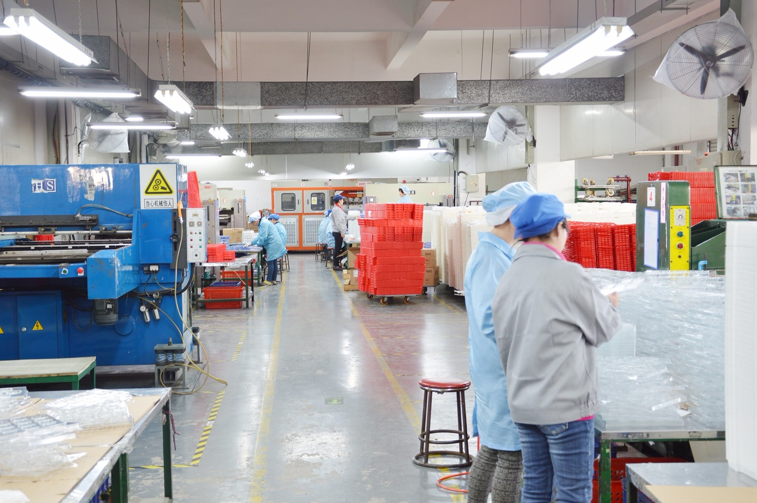 Inside the factory