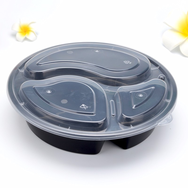 High quality Disposable lunch box round black three pack lunch box thickened grid lunch box snack box 150 sets Quotes,China Disposable lunch box round black three pack lunch box thickened grid lunch box snack box 150 sets Factory,Disposable lunch box round black three pack lunch box thickened grid lunch box snack box 150 sets Purchasing